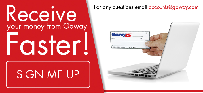 Receive your cash faster with Goway